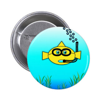 Snorkel Fish 6 Cm Round Badge