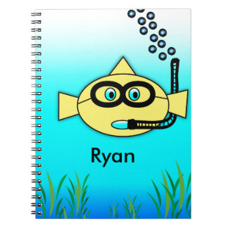 Snorkel Fish with Name Notebooks