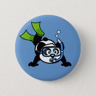 Snorkel Panda 6 Cm Round Badge