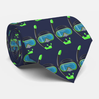 snorkel snorkelling water sports double sided navy tie