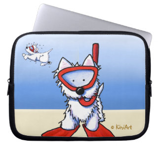 Snorkel Westies Laptop Sleeve