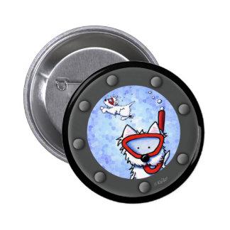 Snorkel Westies Porthole 6 Cm Round Badge