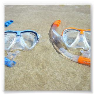 Snorkeling Pair Photo Art