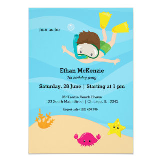Snorkeling party card