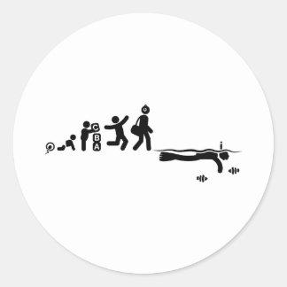 Snorkeling Round Sticker