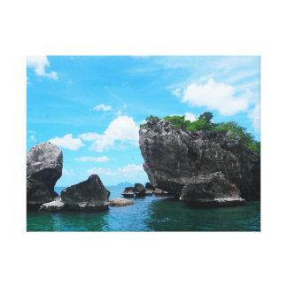 Snorkeling Tropical Islands Canvas Print