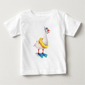 Snorkeling White Goose Baby T-Shirt