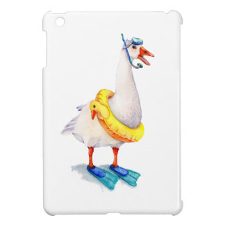 Snorkeling White Goose iPad Mini Cover