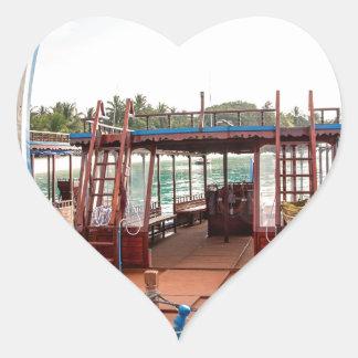 Snorkelling Boat Heart Sticker