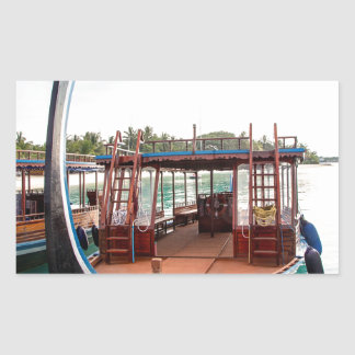Snorkelling Boat Rectangular Sticker