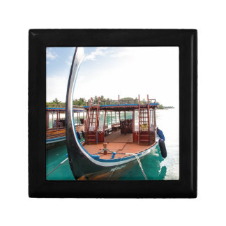 Snorkelling Boat Small Square Gift Box