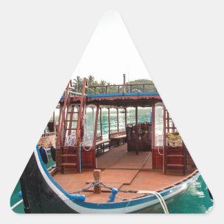 Snorkelling Boat Triangle Sticker
