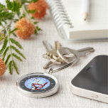 Snorkelling Westies Porthole Silver-Colored Round Key Ring