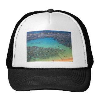 Snorklers at Hanauma Bay Oahu Hawaii Mesh Hats