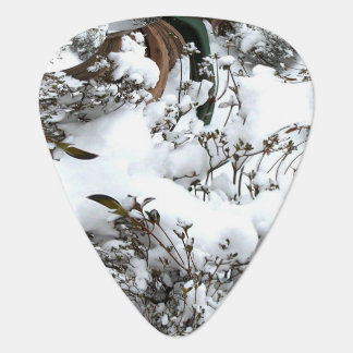 Snow Abstract Guitar Pick