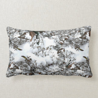 Snow Abstract Lumbar Cushion