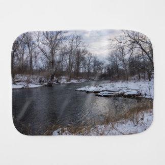Snow Along James River Burp Cloth