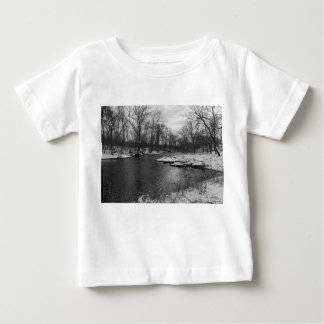 Snow Along James River Grayscale Baby T-Shirt