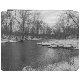 Snow Along James River Grayscale iPad Cover