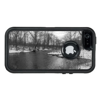 Snow Along James River Grayscale OtterBox Defender iPhone Case