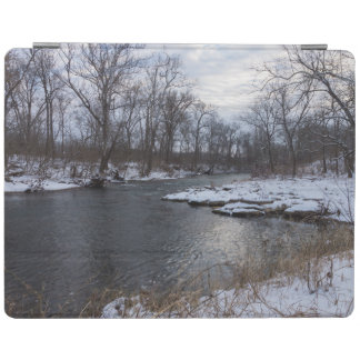 Snow Along James River iPad Cover