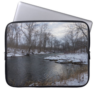 Snow Along James River Laptop Sleeve