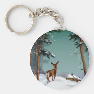 snow and the little deer, keychain