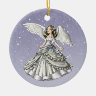 Snow Angel Ceramic Ornament