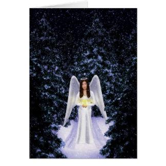 Snow Angel Christmas Card