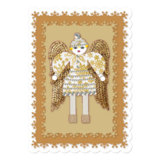 Snow Angel Christmas Note or Invitation