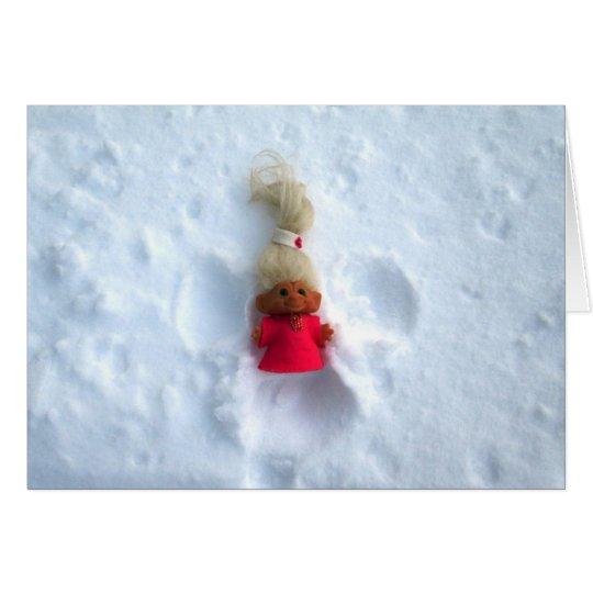 Snow Angel Troll Card