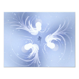 Snow Angels Abstract Art 11 Cm X 14 Cm Invitation Card