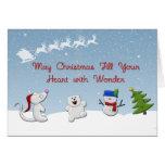 Snow Animals Christmas Greeting Card