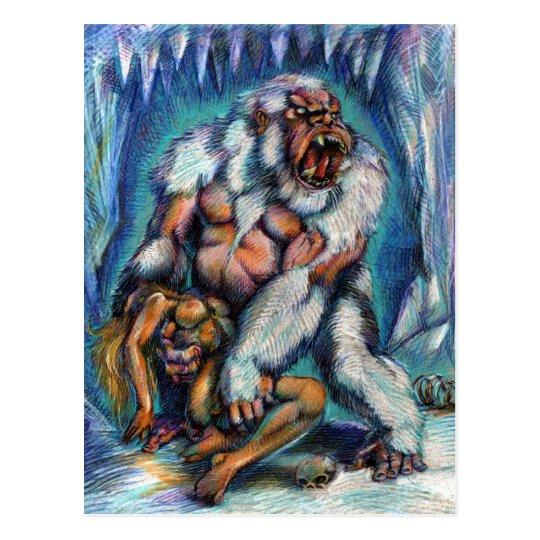 Snow Ape & Captive Postcard