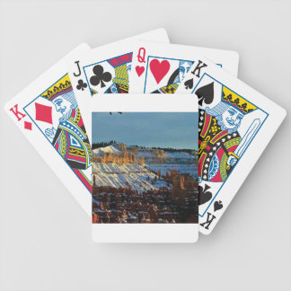 snow at bryce bicycle playing cards