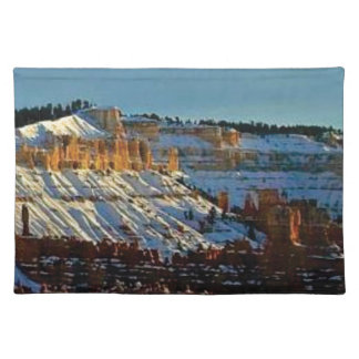 snow at bryce placemat