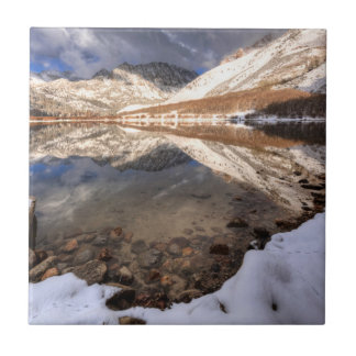 Snow at North Lake, California Ceramic Tile