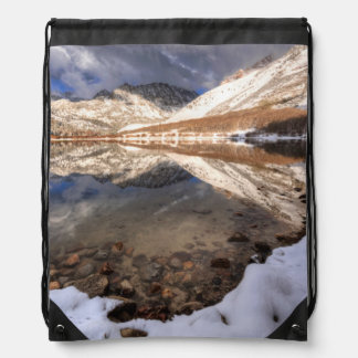 Snow at North Lake, California Drawstring Bag