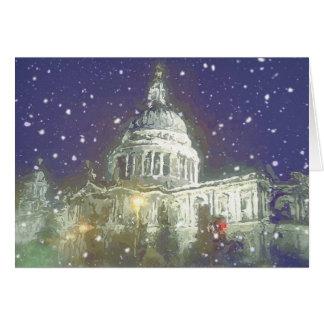 Snow at St Pauls Card