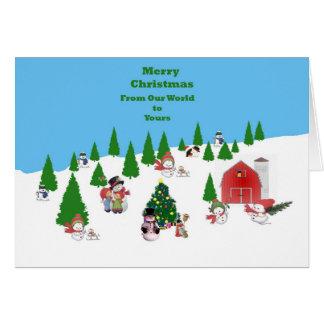 Snow Baby Christmas Card