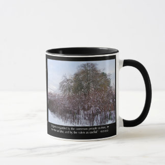 Snow, Bamboo and Trees with Seneca Quote Mug