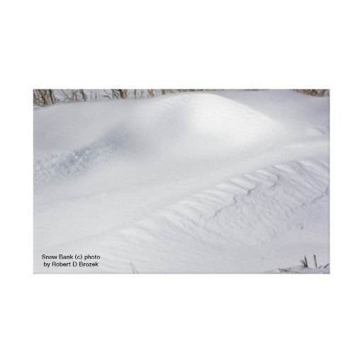 Snow Bank Stretched Canvas Print