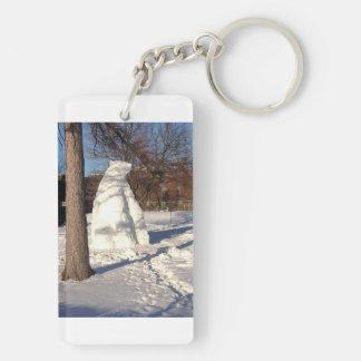 Snow Bear, Concordia University (Key Chain) Double-Sided Rectangular Acrylic Key Ring