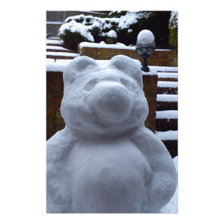 Snow Bear Custom Stationery