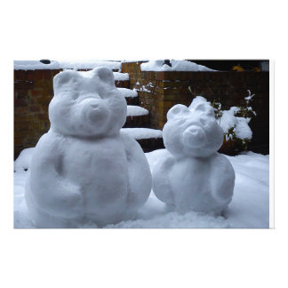 Snow Bears Personalised Stationery