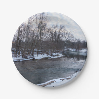Snow Beauty James River 7 Inch Paper Plate