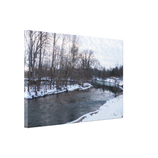 Snow Beauty James River Canvas Print
