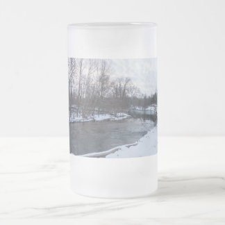 Snow Beauty James River Frosted Glass Beer Mug