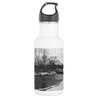 Snow Beauty James River Grayscale 532 Ml Water Bottle