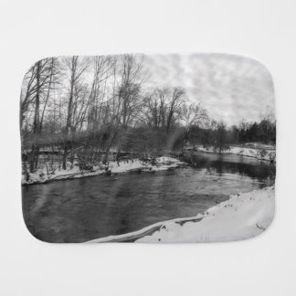 Snow Beauty James River Grayscale Burp Cloth